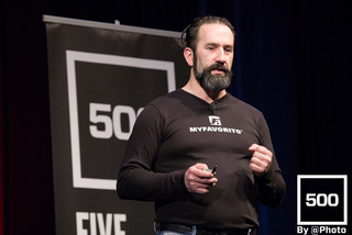 MyFavorito presents at 500 Startups Demoday in Mountain View, California