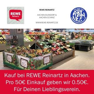 Kauf bei REWE Reinartz - Pro 50€ Einkauf geben wir 0.50€ für Deinen Lieblingsverein