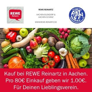 Kauf bei REWE Reinartz - Pro 80€ Einkauf geben wir 1€ für Deinen Lieblingsverein
