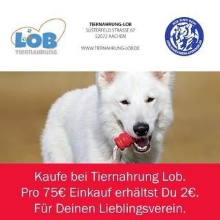 Kaufe bei Tiernahrung Lob - pro 75€ Einkauf geben wir 2€ für Deinen Lieblingsverein