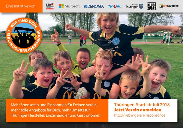 """Landessportbund Thüringen und MyFavorito starten """"Lieblingsvereinsponsor.de"""""""