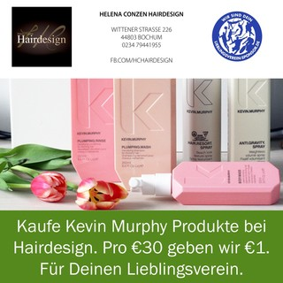 Kaufe Kevin Murphy Produkte bei Hairdesign. Pro €30 Kauf geben wir Dir €1. Für Deinen Lieblingsverein.