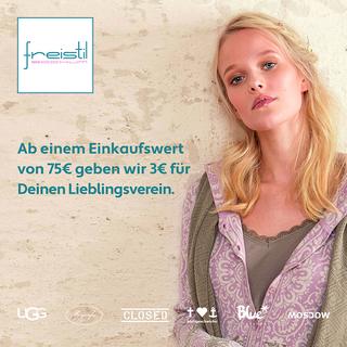 Shoppen bei Freistil - Ab 75€ geben wir 3€ für Deinen Lieblingsverein
