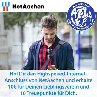 Hol Dir einen Highspeeed-Internet-Anschluss von NetAachen und kassiere fette Punkte!