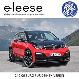 Miete Dein Elektroauto bei eleese. Für jede neue Fahrzeugbestellung spenden wir €240 für Deinen Lieblingsverein.