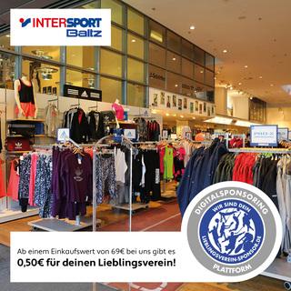 Kaufe bei INTERSPORT BALTZ - ab 69€ Einkaufswert erhältst Du 0,50€ für Deinen Lieblingsverein