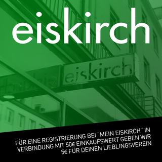 """REGISTRIERUNG BEI """"MEIN EISKIRCH"""" - AB 50€ GEBEN WIR 5€ FÜR DEINEN LIEBLINGSVEREIN"""